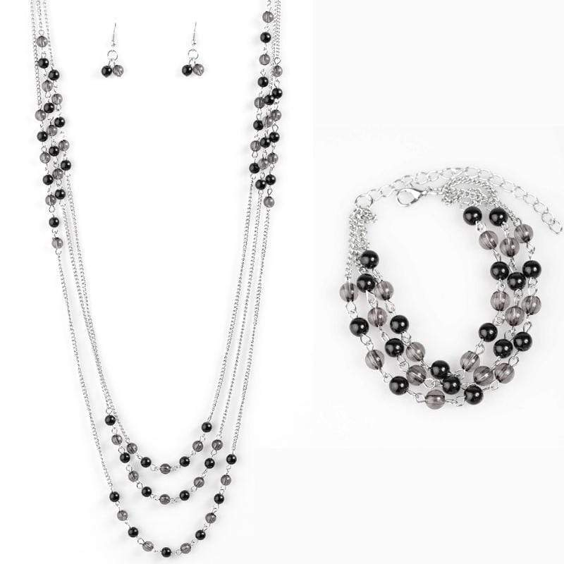 Wicked Wonders VIP Bling Bling Set Color My World Black Set Affordable Bling_Bling Fashion Paparazzi