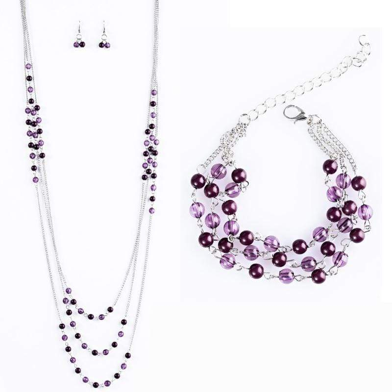 Wicked Wonders VIP Bling Bling Set Color My World Purple Set Affordable Bling_Bling Fashion Paparazzi