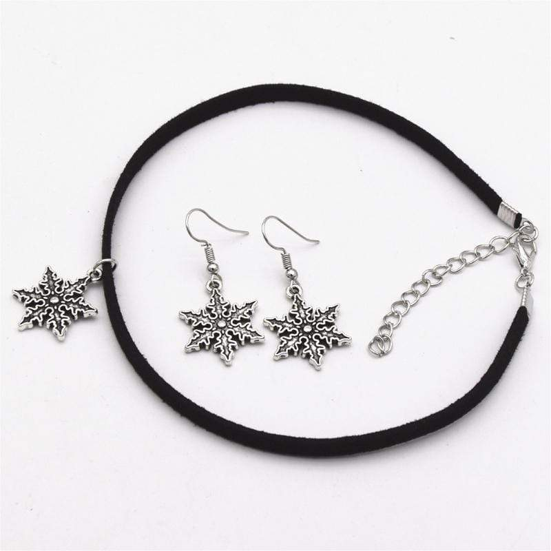 Wicked Wonders VIP Bling Bling Set Counting Snowflakes Choker Set Affordable Bling_Bling Fashion Paparazzi