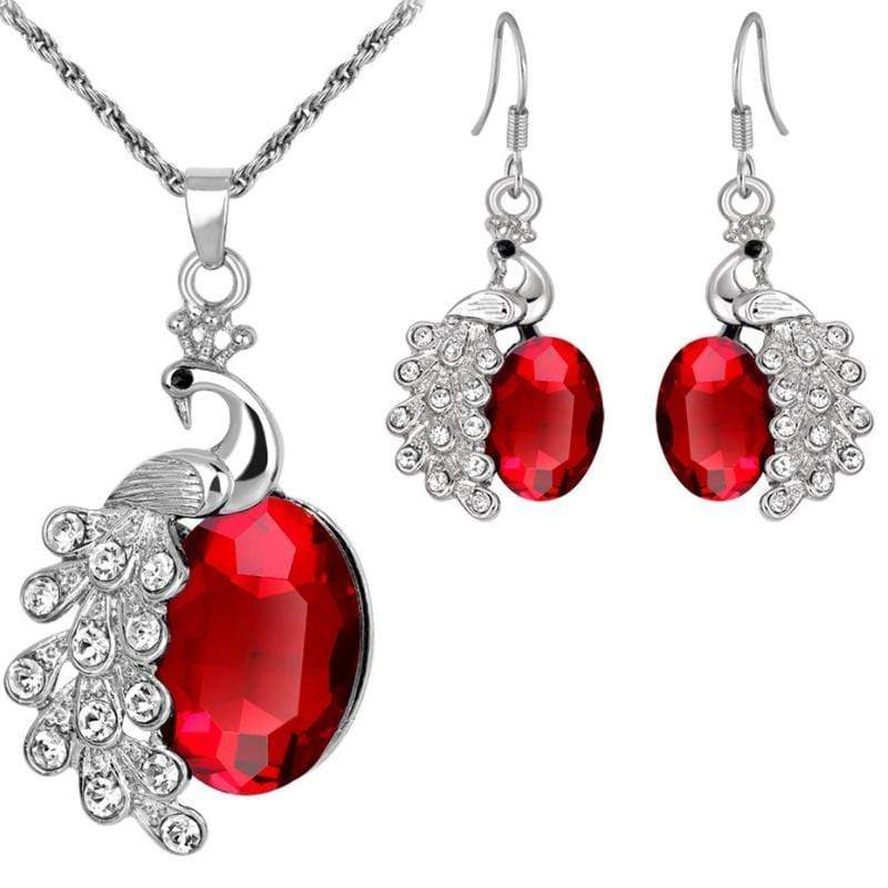 Wicked Wonders VIP Bling Bling Set Crimson Peacock Red Gem Set Affordable Bling_Bling Fashion Paparazzi