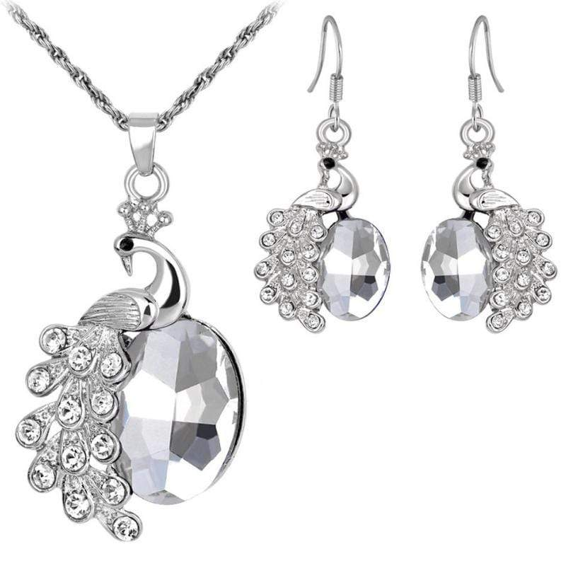 Wicked Wonders VIP Bling Bling Set Diamond Peacock White Gem Set Affordable Bling_Bling Fashion Paparazzi