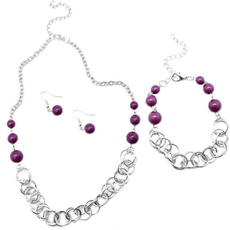 Wicked Wonders VIP Bling Bling Set Divine Grace 2-piece Purple Set Affordable Bling_Bling Fashion Paparazzi