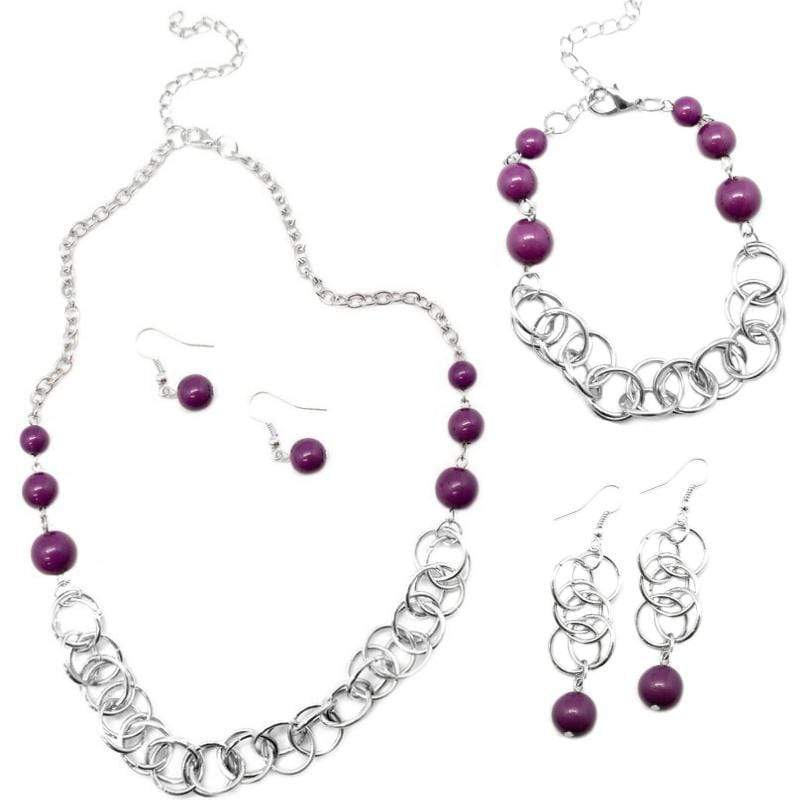 Wicked Wonders VIP Bling Bling Set Divine Grace 3-Piece Purple Set Affordable Bling_Bling Fashion Paparazzi