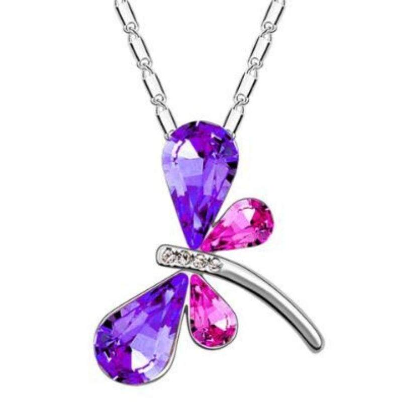 Wicked Wonders VIP Bling Bling Set DRAGONFLY Kisses Purple-Pink Gem Set Affordable Bling_Bling Fashion Paparazzi