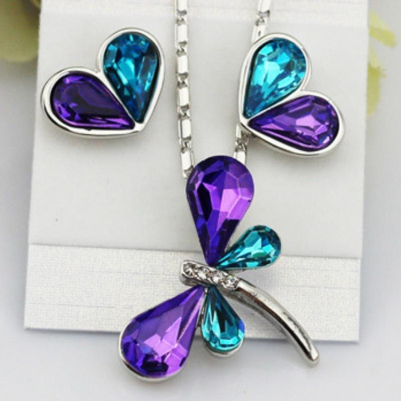 Wicked Wonders VIP Bling Bling Set DRAGONFLY Kisses Purple-Teal Gem Set Affordable Bling_Bling Fashion Paparazzi