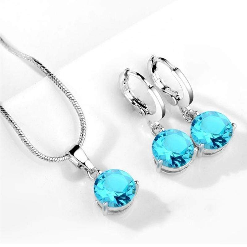 Wicked Wonders VIP Bling Bling Set Drops of Jupiter Aqua Sky Blue Gem Set Affordable Bling_Bling Fashion Paparazzi