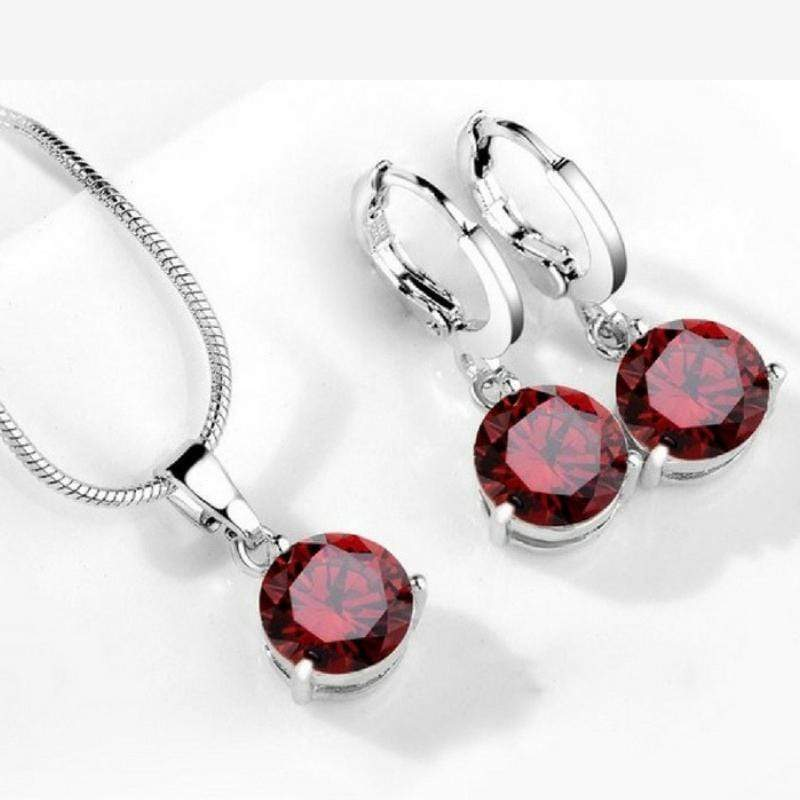 Wicked Wonders VIP Bling Bling Set Drops of Jupiter Dark Red Gem Set Affordable Bling_Bling Fashion Paparazzi
