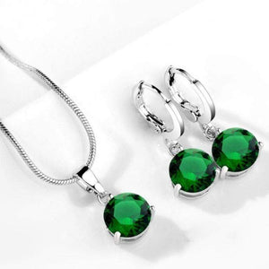 Wicked Wonders VIP Bling Bling Set Drops of Jupiter Green Gem Set Affordable Bling_Bling Fashion Paparazzi