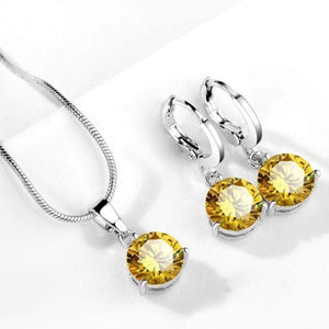Wicked Wonders VIP Bling Bling Set Drops of Jupiter Yellow Gem Set Affordable Bling_Bling Fashion Paparazzi