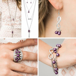 Wicked Wonders VIP Bling Bling Set Glimpses of Malibu Trend Blend To Whatever End Purple Set Affordable Bling_Bling Fashion Paparazzi