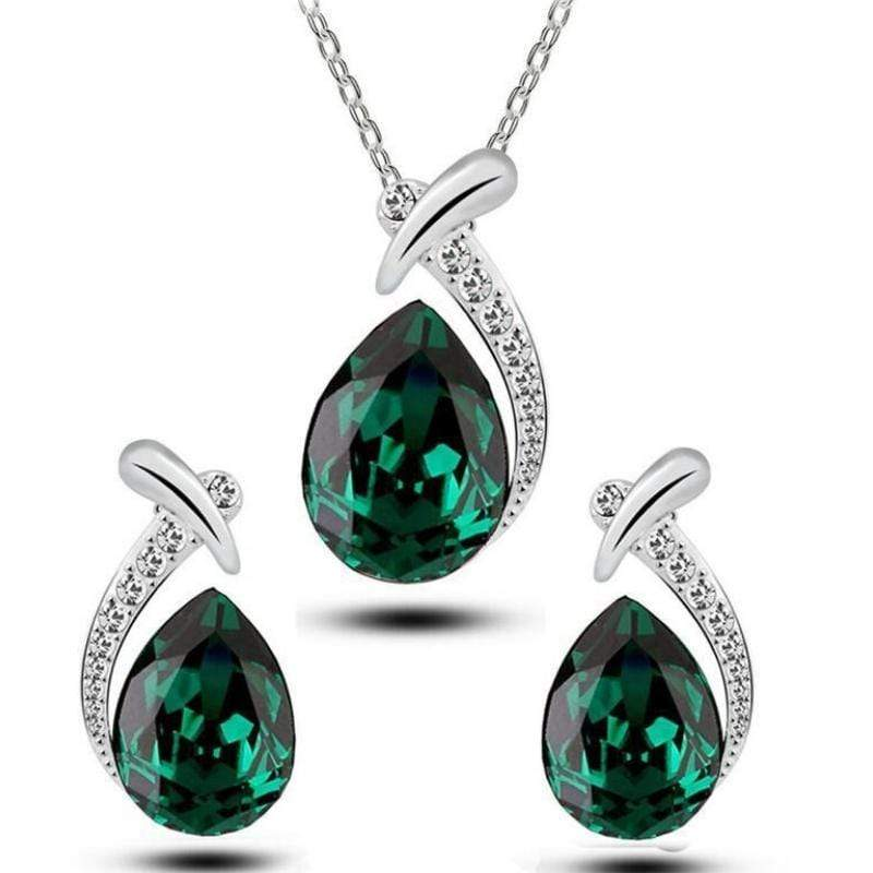 Wicked Wonders VIP Bling Bling Set Hell and High WaterDROPS Green Gem Set Affordable Bling_Bling Fashion Paparazzi