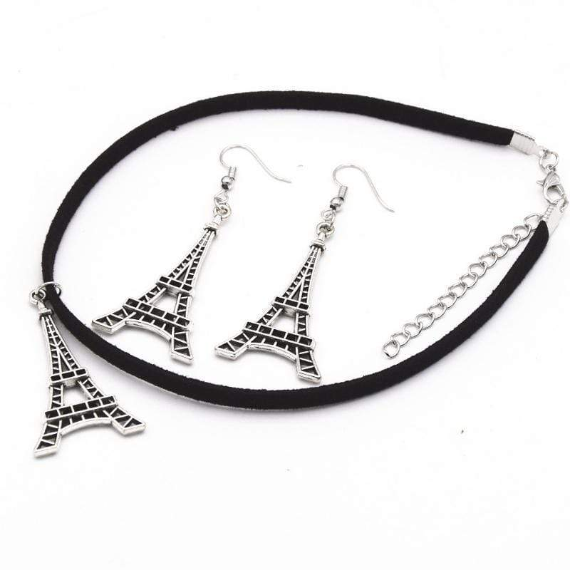 Wicked Wonders VIP Bling Bling Set La Romance de Paris Choker Set Affordable Bling_Bling Fashion Paparazzi