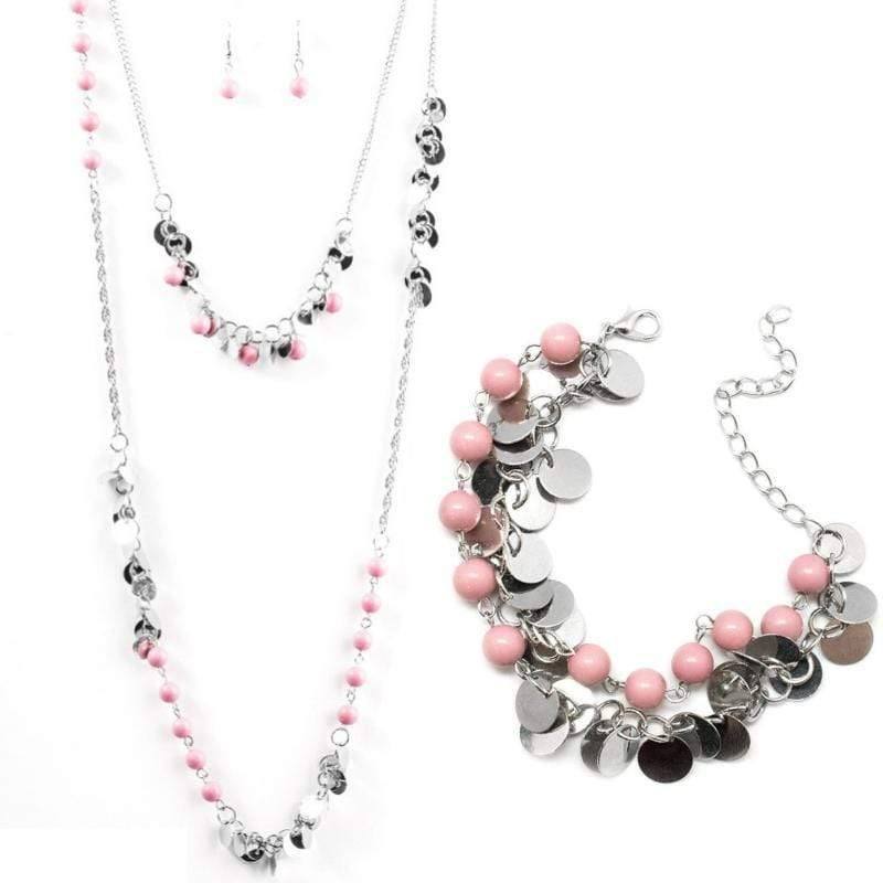 Wicked Wonders VIP Bling Bling Set Lost in Reverie Pink Set Affordable Bling_Bling Fashion Paparazzi
