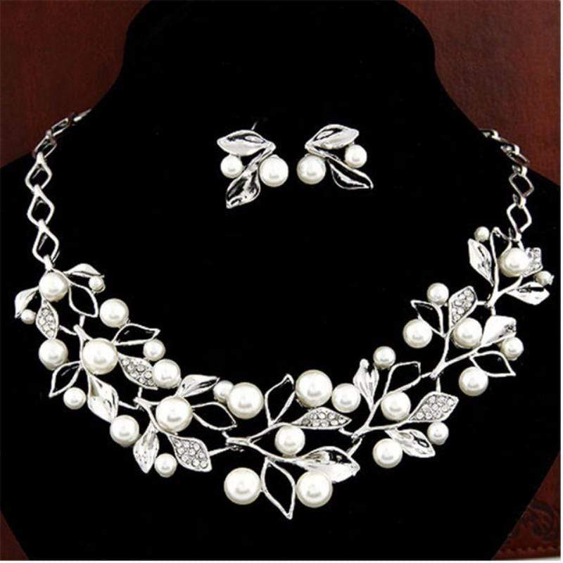 Wicked Wonders VIP Bling Bling Set Lovely Leaves White Statement Necklace  Set Affordable Bling_Bling Fashion Paparazzi