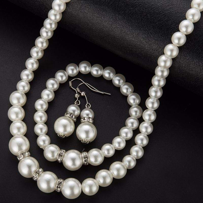 Wicked Wonders VIP Bling Bling Set Marry Me 3-Piece White Pearl Set Affordable Bling_Bling Fashion Paparazzi