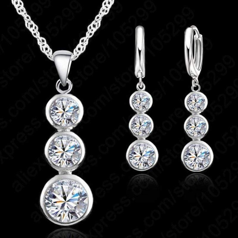 Wicked Wonders VIP Bling Bling Set Past Present Future White Gem Set Affordable Bling_Bling Fashion Paparazzi