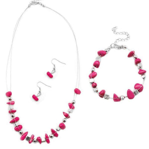 Wicked Wonders VIP Bling Bling Set Pebble Pow Wow Pink Set Affordable Bling_Bling Fashion Paparazzi