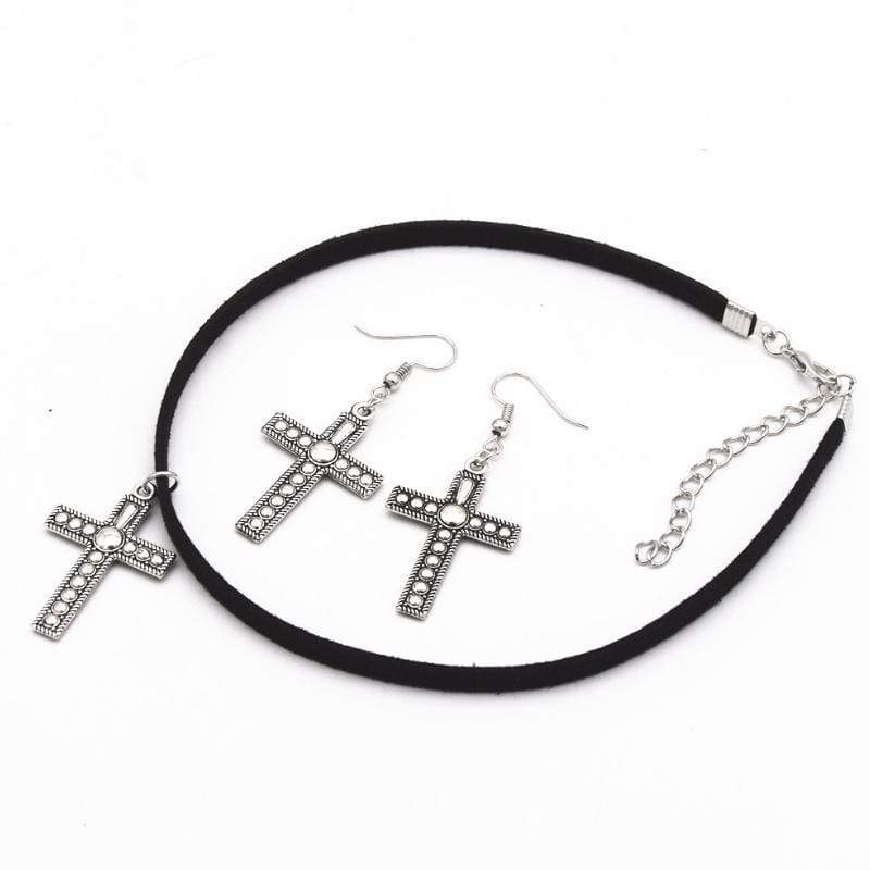 Wicked Wonders VIP Bling Bling Set Power of the Cross Choker Set Affordable Bling_Bling Fashion Paparazzi