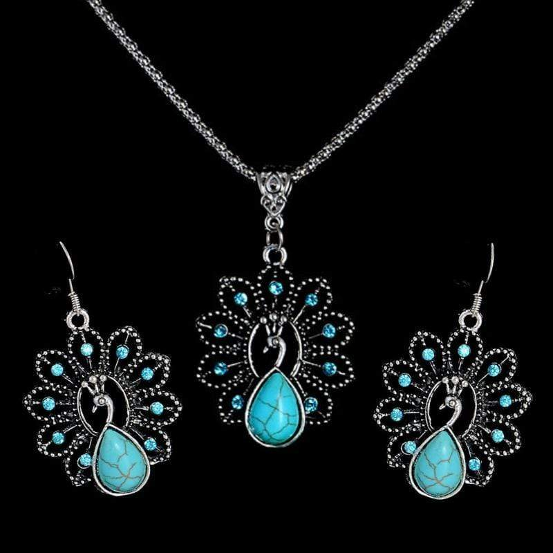 Wicked Wonders VIP Bling Bling Set Shadows of the Peacock Blue Stone Set Affordable Bling_Bling Fashion Paparazzi