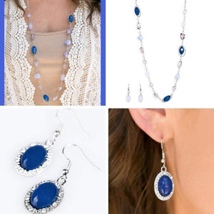 Wicked Wonders VIP Bling Bling Set So Sophisticated 2-Piece Blue Set Affordable Bling_Bling Fashion Paparazzi