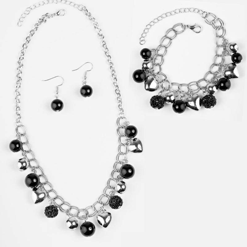 Wicked Wonders VIP Bling Bling Set Twitterpated Black Set Affordable Bling_Bling Fashion Paparazzi