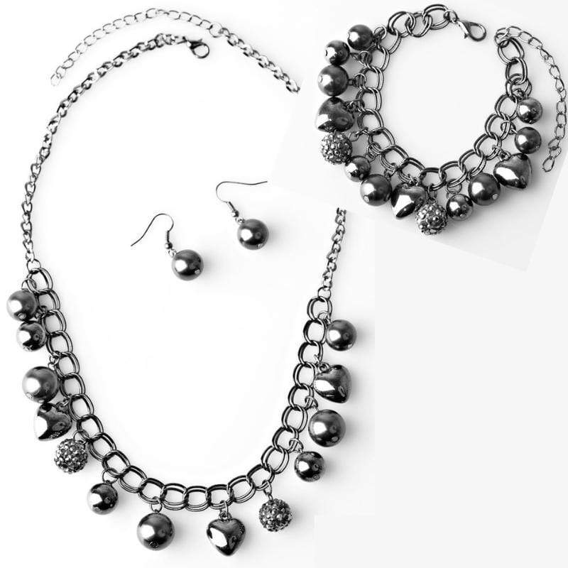 Wicked Wonders VIP Bling Bling Set Twitterpated Gunmetal Set Affordable Bling_Bling Fashion Paparazzi