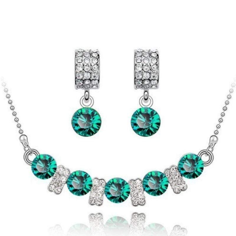 Wicked Wonders VIP Bling Bling Set You Are a Princess Dainty Green Gem Set Affordable Bling_Bling Fashion Paparazzi