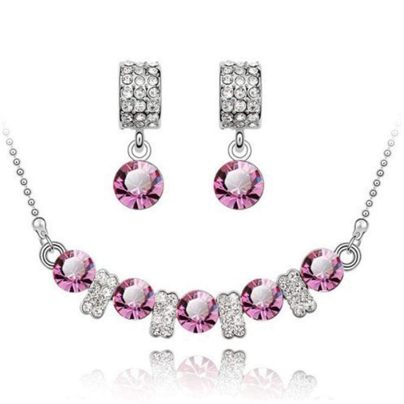Wicked Wonders VIP Bling Bling Set You Are a Princess Dainty Pink Gem Set Affordable Bling_Bling Fashion Paparazzi