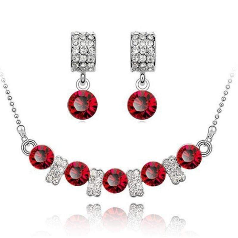 Wicked Wonders VIP Bling Bling Set You Are a Princess Dainty Red Gem Set Affordable Bling_Bling Fashion Paparazzi