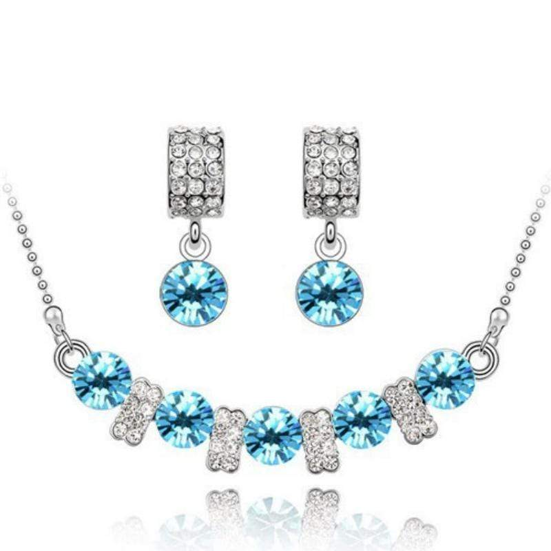 Wicked Wonders VIP Bling Bling Set You Are a Princess Dainty Teal Gem Set Affordable Bling_Bling Fashion Paparazzi