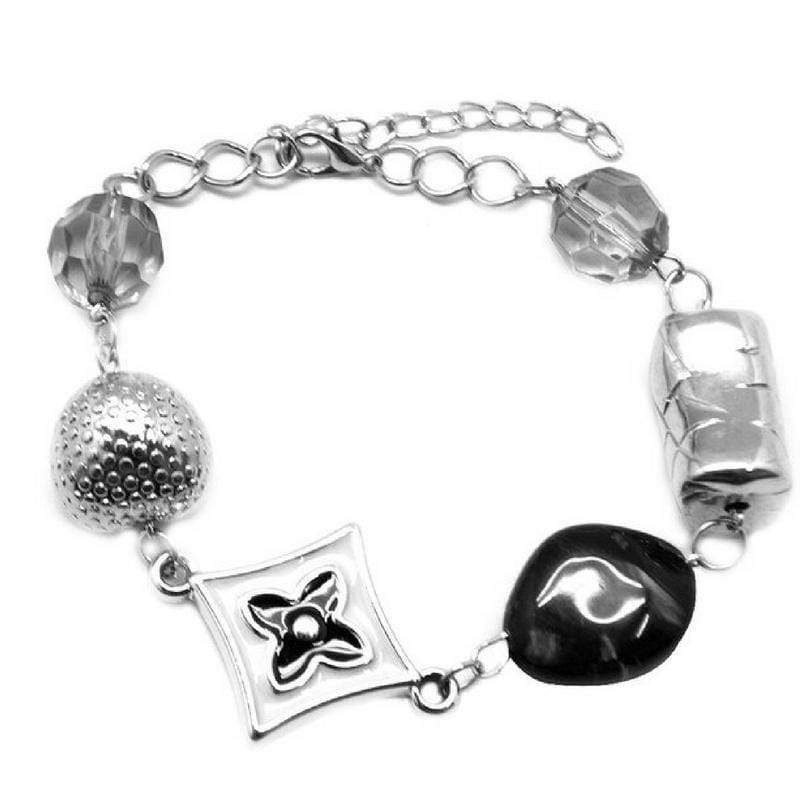 Wicked Wonders VIP Bling Bracelet A Grand Ol' Time Black Bracelet Affordable Bling_Bling Fashion Paparazzi