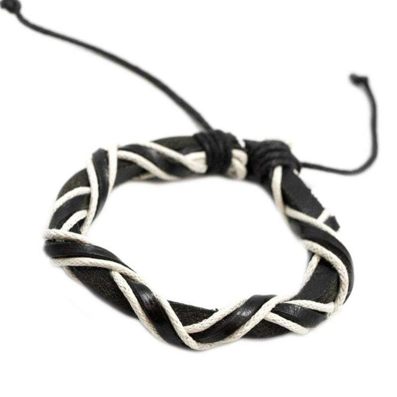 Wicked Wonders VIP Bling Bracelet A Little RUFFIAN Around the Edges Black Urban Man Bracelet Affordable Bling_Bling Fashion Paparazzi