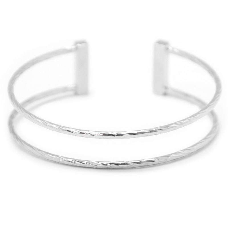 Wicked Wonders VIP Bling Bracelet A Rare Treasure Skinny Silver Cuff Bracelet Affordable Bling_Bling Fashion Paparazzi