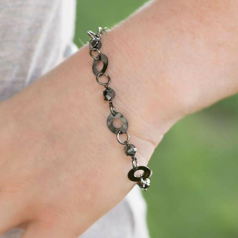 Wicked Wonders VIP Bling Bracelet A Simple Observation Black Bracelet Affordable Bling_Bling Fashion Paparazzi