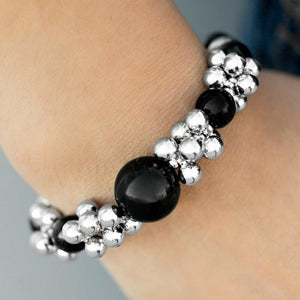 Wicked Wonders VIP Bling Bracelet Arm Candy Black Stretchy Bracelet Affordable Bling_Bling Fashion Paparazzi