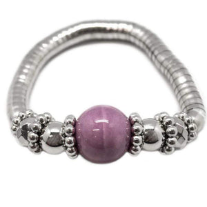 Wicked Wonders VIP Bling Bracelet At First Blush Purple Stretchy Bracelet Affordable Bling_Bling Fashion Paparazzi