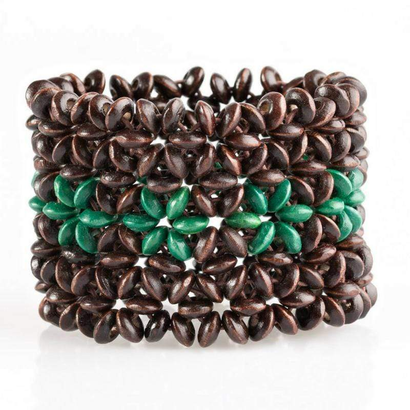 Wicked Wonders VIP Bling Bracelet Bahama Babe Green Stretchy Bracelet Affordable Bling_Bling Fashion Paparazzi