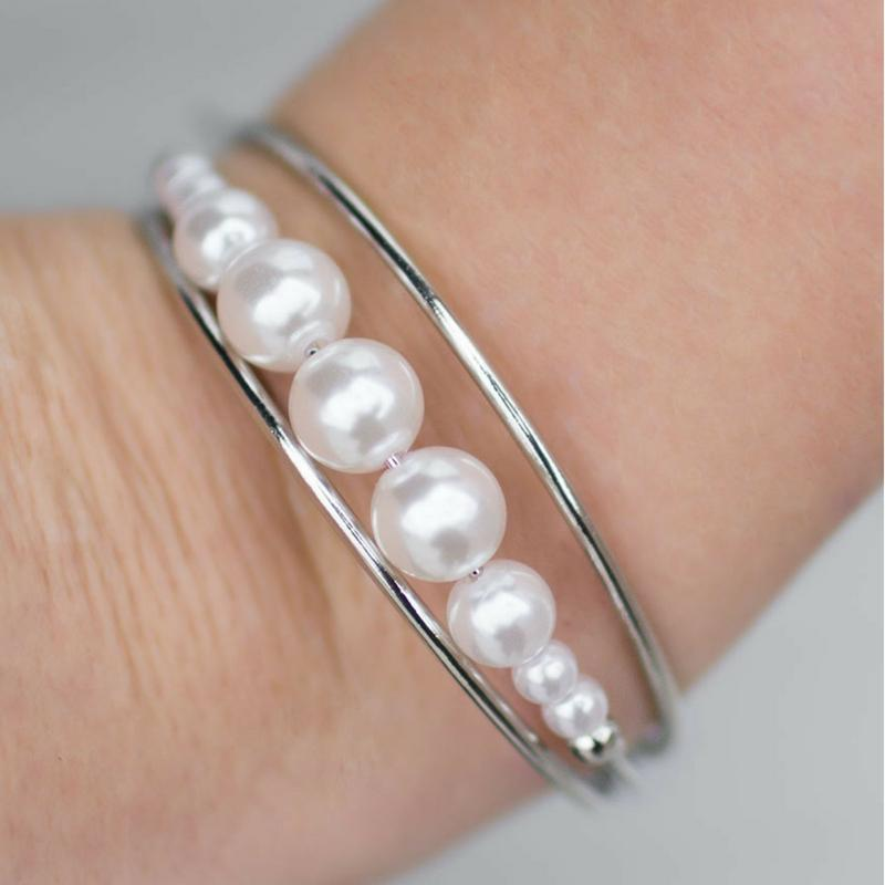 Wicked Wonders VIP Bling Bracelet Ballroom Romance White Cuff Bracelet Affordable Bling_Bling Fashion Paparazzi