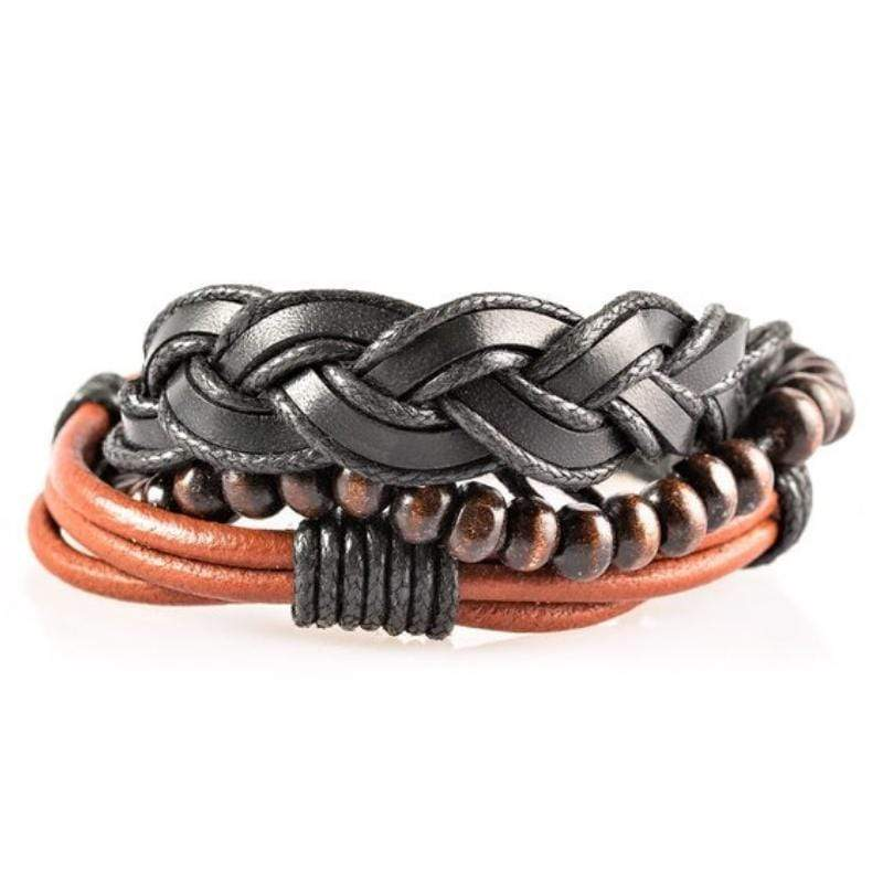 Wicked Wonders VIP Bling Bracelet Beachside Resort Brown Urban Bracelet for Men Affordable Bling_Bling Fashion Paparazzi