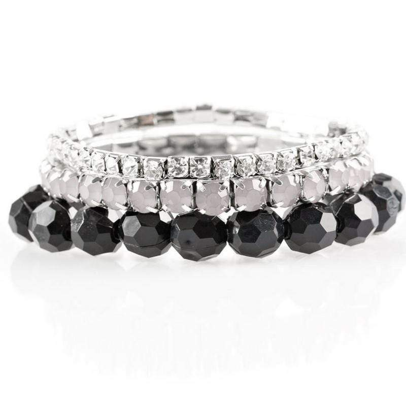 Wicked Wonders VIP Bling Bracelet Beautiful Bravado Black Stretchy Bracelets Affordable Bling_Bling Fashion Paparazzi