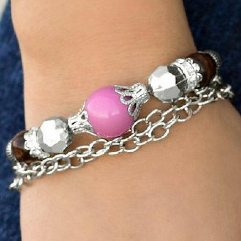 Wicked Wonders VIP Bling Bracelet Belle of the Ball Purple Bracelet Affordable Bling_Bling Fashion Paparazzi