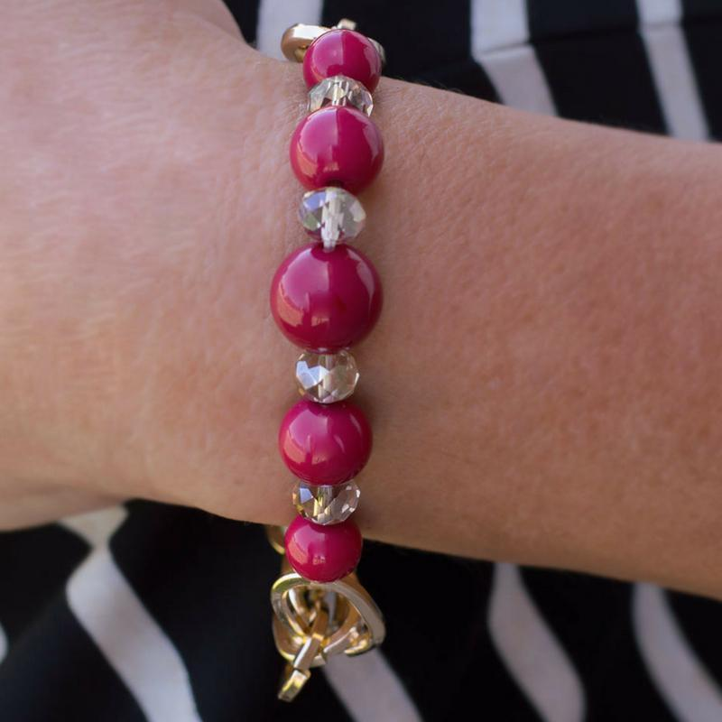 Wicked Wonders VIP Bling Bracelet Better Luck Next Time Pink Bracelet Affordable Bling_Bling Fashion Paparazzi