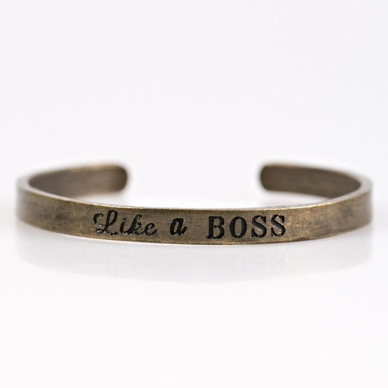 Wicked Wonders VIP Bling Bracelet Boss Behavior Brass Skinny Cuff Bracelet Affordable Bling_Bling Fashion Paparazzi