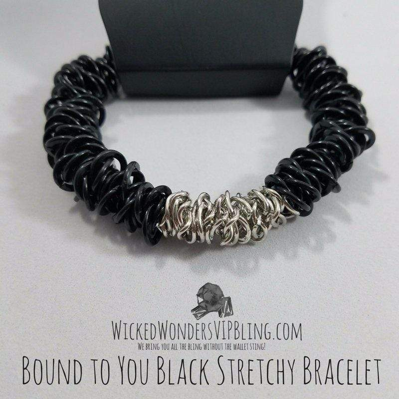 Wicked Wonders VIP Bling Bracelet Bound to You Black Stretchy Bracelet Affordable Bling_Bling Fashion Paparazzi