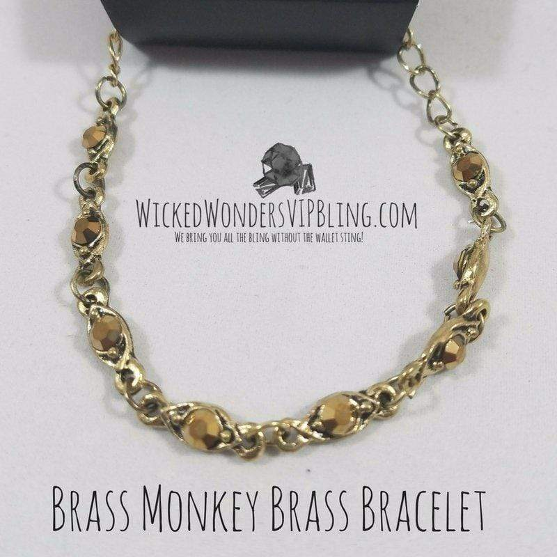 Wicked Wonders VIP Bling Bracelet Brass Monkey Brass Bracelet Affordable Bling_Bling Fashion Paparazzi