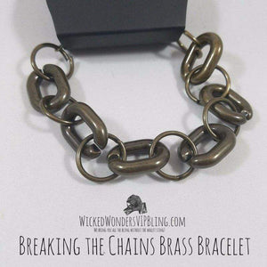 Wicked Wonders VIP Bling Bracelet Breaking the Chains Brass Bracelet Affordable Bling_Bling Fashion Paparazzi