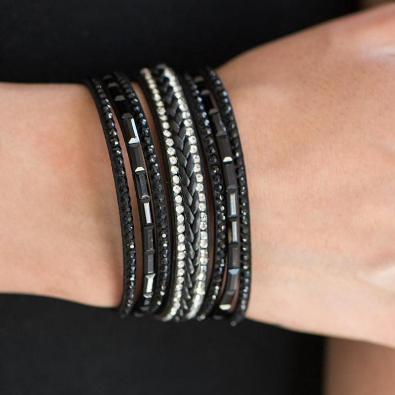 Wicked Wonders VIP Bling Bracelet Brings Out The BEAST In Me Black Bracelet Affordable Bling_Bling Fashion Paparazzi