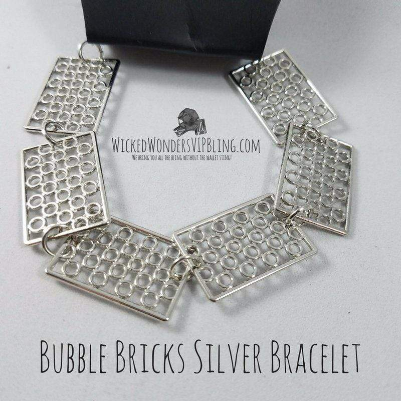 Wicked Wonders VIP Bling Bracelet Bubble Bricks Silver Bracelet Affordable Bling_Bling Fashion Paparazzi