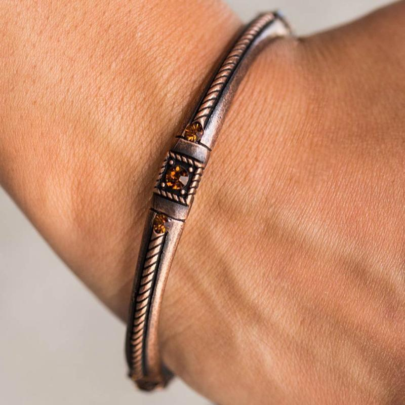 Wicked Wonders VIP Bling Bracelet Can't Bling Me Down Copper Bangle Bracelet Affordable Bling_Bling Fashion Paparazzi