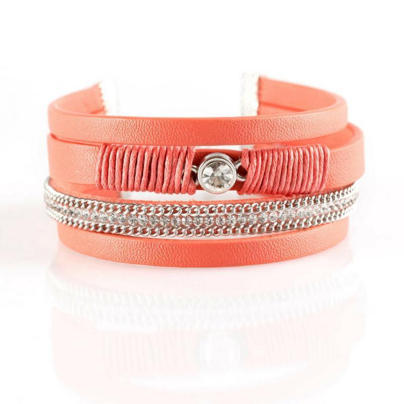 Wicked Wonders VIP Bling Bracelet Catwalk Craze Orange Urban Bracelet Affordable Bling_Bling Fashion Paparazzi